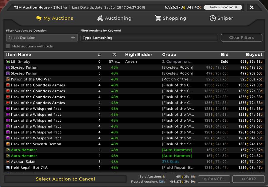 TradeSkillMaster 4 Released! - TradeSkillMaster Blog